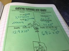 Guided practice in this scientific notation interactive notebook unit. Check out the whole unit for my class' interactive notebooks in this post! Math Notebooks, Interactive Notebooks, Student Teaching, Math Teacher, Scientific Notation, I Can Statements, Guided Practice, Secondary Math, 8th Grade Math