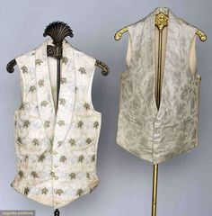 Two Men's Silk Vests, America, 1840s, Augusta Auctions, November 13, 2013 - NYC