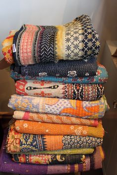 rough luxe: Rough Luxe Fashion-The Art of Kantha