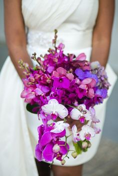 Purple & Fuchsia Orchid Bouquet..my favorite flower in my favorite color!! A must