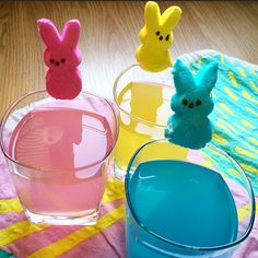 Easter KINKY Cocktails with lemon-lime soda :)