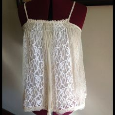 Sexy lace tank  Sexy yet feminine.... Fully lined, great with jeans, shorts, skirts Tops Tank Tops