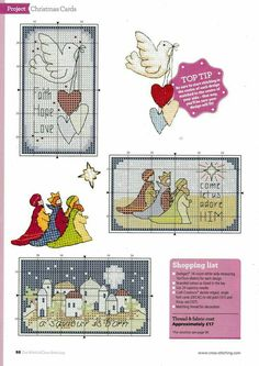 ru / Фото - The World of Cross Stitching 261 - tymannost Cross Stitch Christmas Cards, Christmas Cross, Key Crafts, Nordic Christmas, Christmas Projects, Cross Stitching, Needlepoint, Cross Stitch Patterns, Needlework