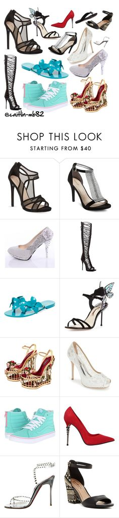 """""""The Shoe Collage (2)"""" by caitlin-mb82 on Polyvore featuring KG Kurt Geiger, Tevolio, Giuseppe Zanotti, Melissa, Sophia Webster, Dolce&Gabbana, Badgley Mischka, Vans, Le Silla and Christian Louboutin"""