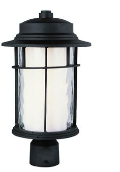Trans Globe Lighting 5294 BK Craftsman Outdoor 1 Light Post Lantern
