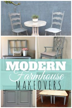 Furniture refinished using the new Galvanized Grey chalk furniture paint by Superior Paint Co. Chalk Paint Furniture, Barn Wood, Modern Farmhouse, Entryway Tables, Grey, Painting, Inspiration, Collection, Design