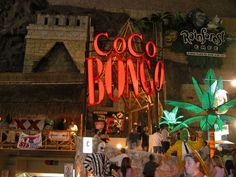 Coco Bongo Cancun Mexico~ Is a must see - it is a cross between Circus de Soleil/Concert/Theatre/Nightclub. It is located in the heart of downtown cancun and is packed every night!