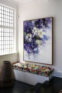 Large wall art Abstract Painting Original painting Oil painting Canvas art Large canvas art Paintings on canvas Flower painting Blue Large Canvas Art, Large Wall Art, Abstract Flowers, Acrylic Flowers, Acrylic Art, Art Sur Toile, Grand Art, Art Mural, Oil Painting On Canvas