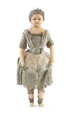 Wax doll 1850, via Flickr.