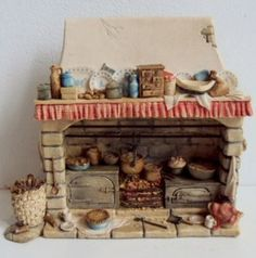 Witch Cottage, Storybook Cottage, Miniature Tutorials, Miniature Dolls, Brambly Hedge, Small Wonder, Ceramic Houses, Stove Fireplace, Mini Kitchen