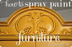 How to spray paint furniture. #paintingtechniques #refinishingfurniture