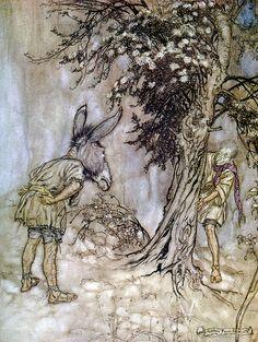 O Bottom, thou art changed!  A Midsummer-Night's Dream  illus.  Arthur Rackham