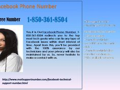 "Is Facebook Phone Number a reliable way to fix problems 1-850-361-8504? ""Yes, whenever you feel that your Facebook issues are getting out of your hands then give us a ring at Facebook Phone Number 1-850-361-8504. Our team of experts will respond to your call and offer you a cent-percent solution to your Facebook knotty hurdles. So, what are you thinking for? Just, contact us. For more information. http://www.mailsupportnumber.com/face... """