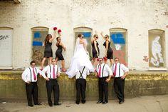 Fun wedding party pictures Grand Rapids, MI