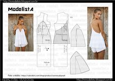 ModelistA: A3 NUM 0316 TOP Easy Sewing Patterns, Clothing Patterns, Dress Patterns, Diy Fashion, Ideias Fashion, Fashion Design, Sewing Clothes, Diy Clothes, Kirsten Dunst