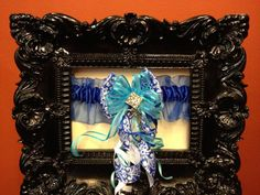 *** FREE SHIPPING *** One of a kind ... Blue Rhinestone Embellished Prom Garter ... $29.99