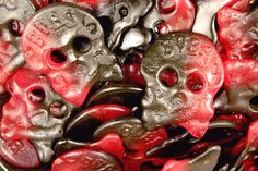 Black and Red Raspberry Liquorice Skulls Candy ~ Perfect For Anti-Valentine's Day