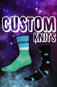 Let our in-house design team create quality, CUSTOM socks and accessories for your business, organization, or event.  The sky's the limit with our custom knit-in and sublimated socks & accessories.     Looking to build a custom package?  We've got you covered!   We offer additional sublimated items to complete your custom bundle.