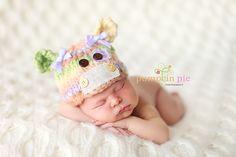 Sweet Love Creates: Moo Cows, Newborn hats