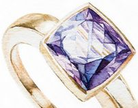 """Check out new work on my @Behance portfolio: """"Diamonds are Forever. Watercolor"""" http://on.be.net/d1ODUa"""