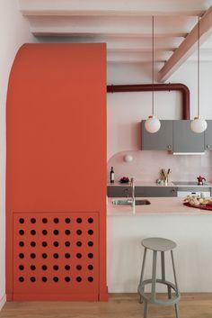 *미니멀리즘 아파트 인테리어 [ Colombo and Serboli Architecture ] Barcelona apartment Barcelona Apartment, Design Apartment, Dark Interiors, Contemporary Interior Design, Cuisines Design, Color Of The Year, Interiores Design, Kitchen Interior, Design Kitchen