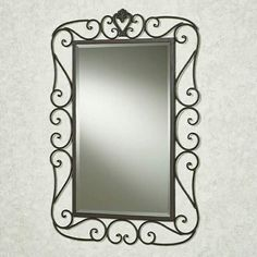 Mirror Black Wrought Iron Mirror Awe Inspiring Wrought Iron with regard to proportions 736 X 1297 Wrought Iron Wall Mirror Designs - Our Wall Decals have b Mirror Candle Wall Sconce, Mirror With Shelf, Metal Mirror, Cheap Wall Mirrors, Bathroom Mirrors, Mirror Headboard, Spiegel Design, Gold Wall Decor, Dressing Mirror