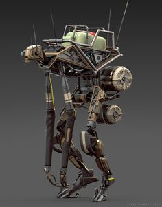 F-02, A new droid unit from Rafael Amarante! Modeled in Cinema 4D, rendered in KeyShot.