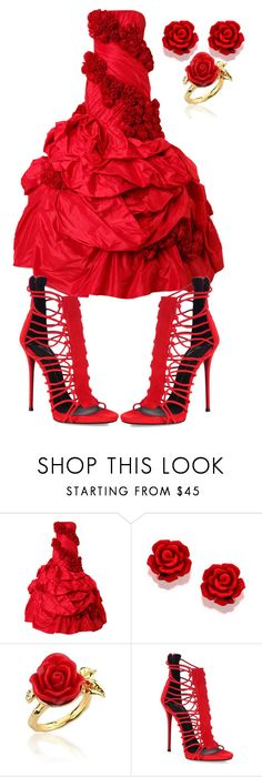 """""""🌹RED ROSE🌹"""" by lovemercy000 ❤ liked on Polyvore featuring Rubin Singer, Disney Couture and Giuseppe Zanotti"""