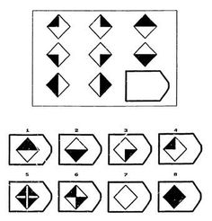 A matrices test is a non-verbal 'culture fair' multiple choice IQ test, that measures your fluid intelligence (Gf) - your reasoning and problem solving ability. Iq Test Answers, Book Activities, Daily Activities, Logic Math, Test For Kids, Preschool Math, Math Worksheets, Problem Solving, This Or That Questions