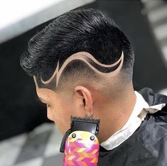 Discover recipes, home ideas, style inspiration and other ideas to try. Hair Tattoo Men, Hair Tattoos, Tomboy Hairstyles, Mens Braids Hairstyles, Hair Designs For Boys, Hair Tattoo Designs, Black Hair Cuts, Shaved Hair Designs, Haircut Designs
