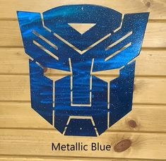 *IMPORTANT* - Please read entire listing before ordering. This item is made from premium steel and comes in 2 different sizes: or (approximate). I also have a Decepticon logo available, as well. You can find it here: Metal Wall Art Decor, Diy Wall Art, Calligraphy R, Metallic Blue, Hanging Signs, See Picture, Metal Walls, Transformers, Handmade Items