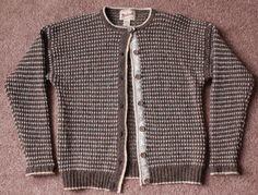 WOOLRICH 100% Wool Brown Mocha Cardigan Sweater Button Front Knit Womens MEDIUM #Woolrich #Cardigan #Casual