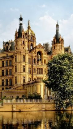 "Schwerin castle ~ is known as the "" Newschwanstein of the  North"" Germany"