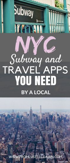 Want to know what NYC subway and travel apps locals use in New York? Check out this list of helpful subway directions and NYC travel apps that I use daily and weekly! | PIN FOR LATER | #nyc #newyorkcity #travelapps