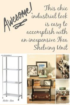 Achieve the Pottery Barn or Restoration Hardware look with an inexpensive Ikea shelving unit and this how to.