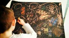 """Disegnando il trasparente """"alla Basquiat"""""""
