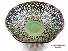 Pottery fruit bowl / bread bowl/center by Ningswonderworld on Etsy, $155.00