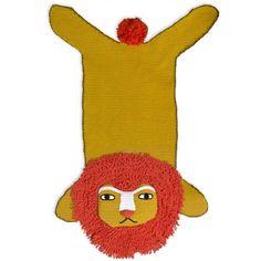 Crocheted Lion Rug