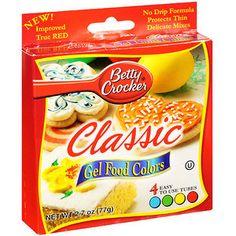 For making glowing VBS crafts. Walmart: Betty Crocker Neon Gel Food ...