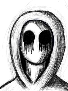 "Vaizdo rezultatas pagal užklausą ""scary pictures to draw easy"" Creepy Drawings, Cute Drawings, Drawing Sketches, Drawing Ideas, Creepy Faces, Creepy Art, Scary Things To Draw, Horror Drawing, Eyeless Jack"