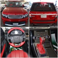 The Unique 2013 Range Rover Sport -Supercharged with Red, exterior & interior! Red Hot!