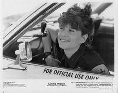 """Raising Arizona"" movie still, 1987.  Holly Hunter as Edwina 'Ed' McDunnough."