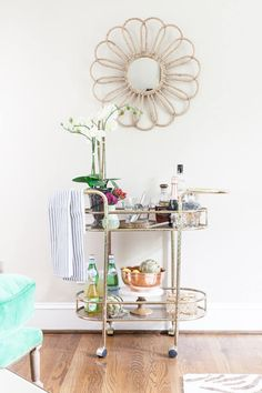 Now that's a stylish bar cart.
