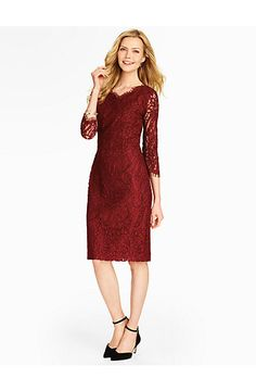 Talbots - Paisley Lace Sheath | Dresses |