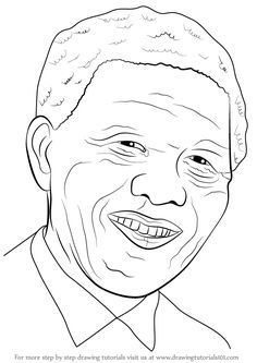 printable nelson mandela coloring poster coloring books pages pinterest