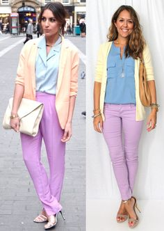 J's Everyday Fashion: Today's Everyday Fashion + Win a Wallet from Thirty-One Gifts Spring Summer Fashion, Autumn Winter Fashion, Spring Outfits, Purple Pants Outfit, Js Everyday Fashion, Professional Outfits, Diva Fashion, Work Attire, Mode Style