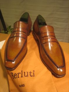 "Berluti, I have a couple of pairs of these ""Andy' loafers , and they are wonderful and just get better the more you wear them !! Jb Gentleman Shoes, Beautiful Shoes, Men Dress, Dress Shoes, Men's Shoes, Casual Shoes, Formal Shoes, Berluti Shoes, Fashion Shoes"