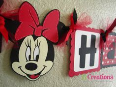 Minnie Mouse Happy Birthday Banner by 21CreationsToo on Etsy