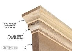 Tradition window molding and door trim looks more complicated than picture-framed trim, but it's actually simpler and more forgiving. Exterior Trim, Exterior Doors, Door Molding, Crown Molding, Moldings, Wood Baseboard, Diy Router, Router Woodworking, Farmhouse Trim