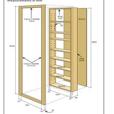Budget Built-In Shelving - Australian Handyman Magazine Diy Storage, Kitchen Storage, Locker Storage, Diy Furniture, Furniture Design, Handyman Magazine, Dressing Table Design, Bookcase Door, Hidden Rooms